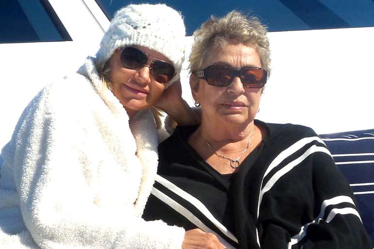 Yolanda Hadid with Mother Ans van den Herik