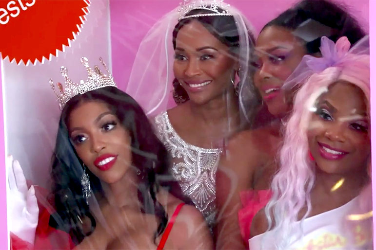 Kenya Moore Barbie Party Rhoa