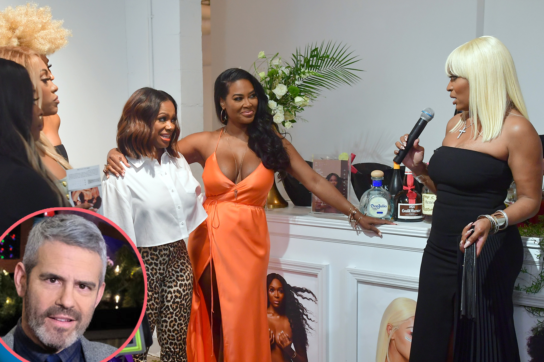 Andy Cohen Is Still Picking His Jaw Up off the Floor After Kenya Moore Crashed Marlo Hampton's Party