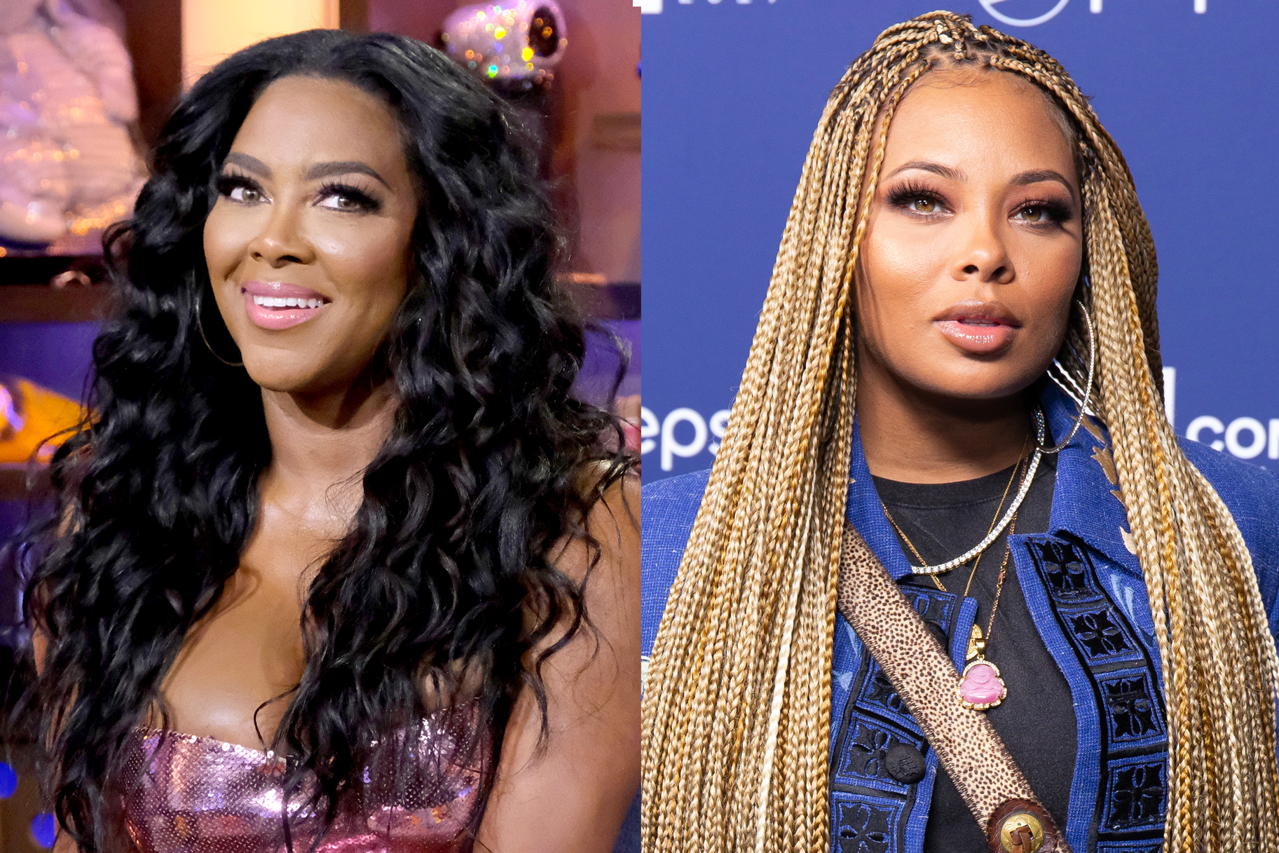 "Kenya Moore Claps Back at Eva Marcille's ""Over the Hill"" Comments: ""I Didn't Send for Her"""