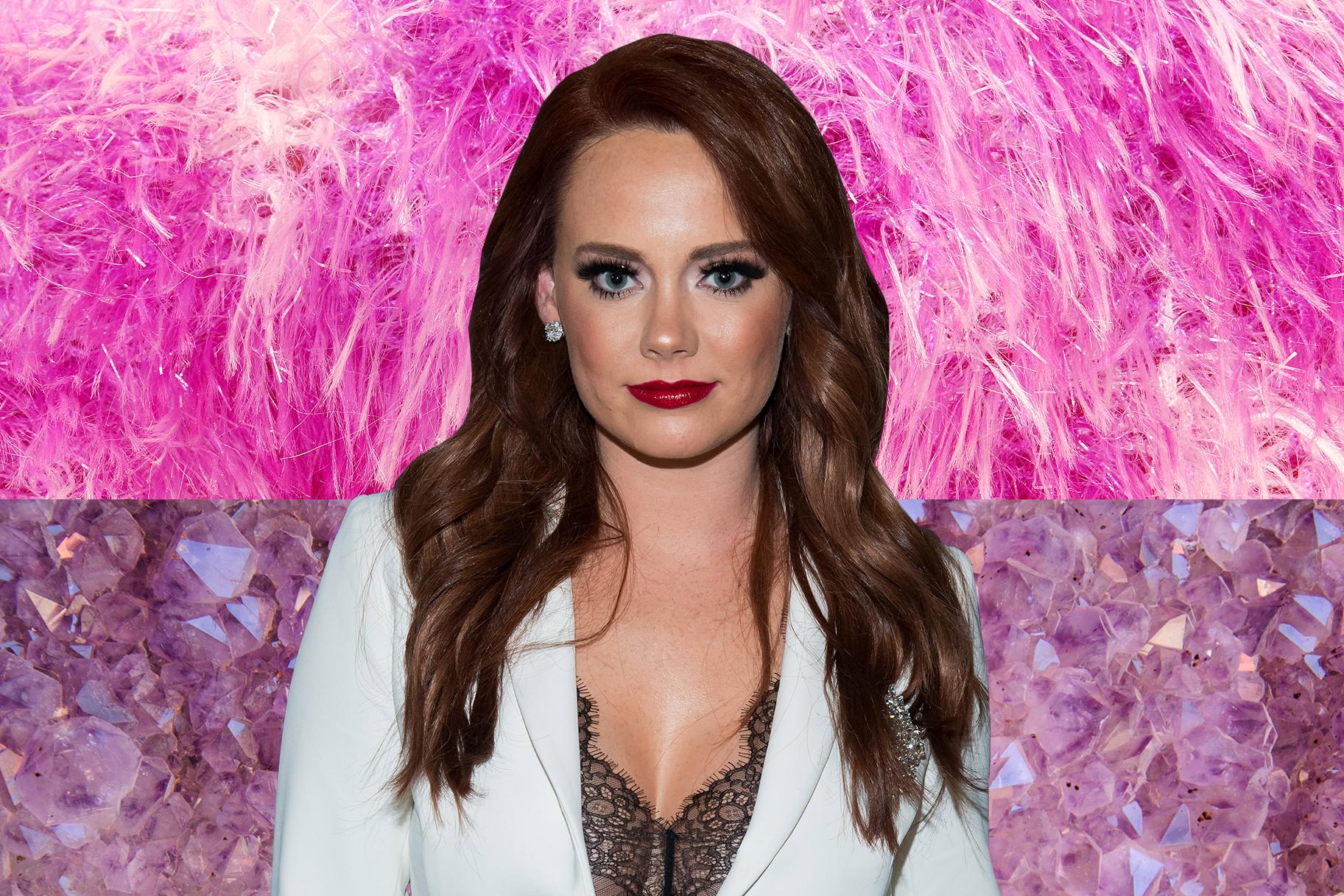 Kathryn Dennis Pink Fur New Year