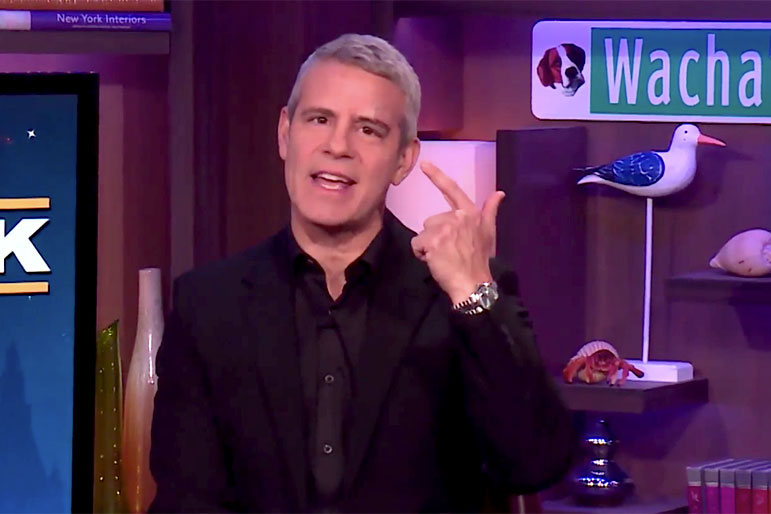 Andy Cohen Wwhl Bandaid Injury