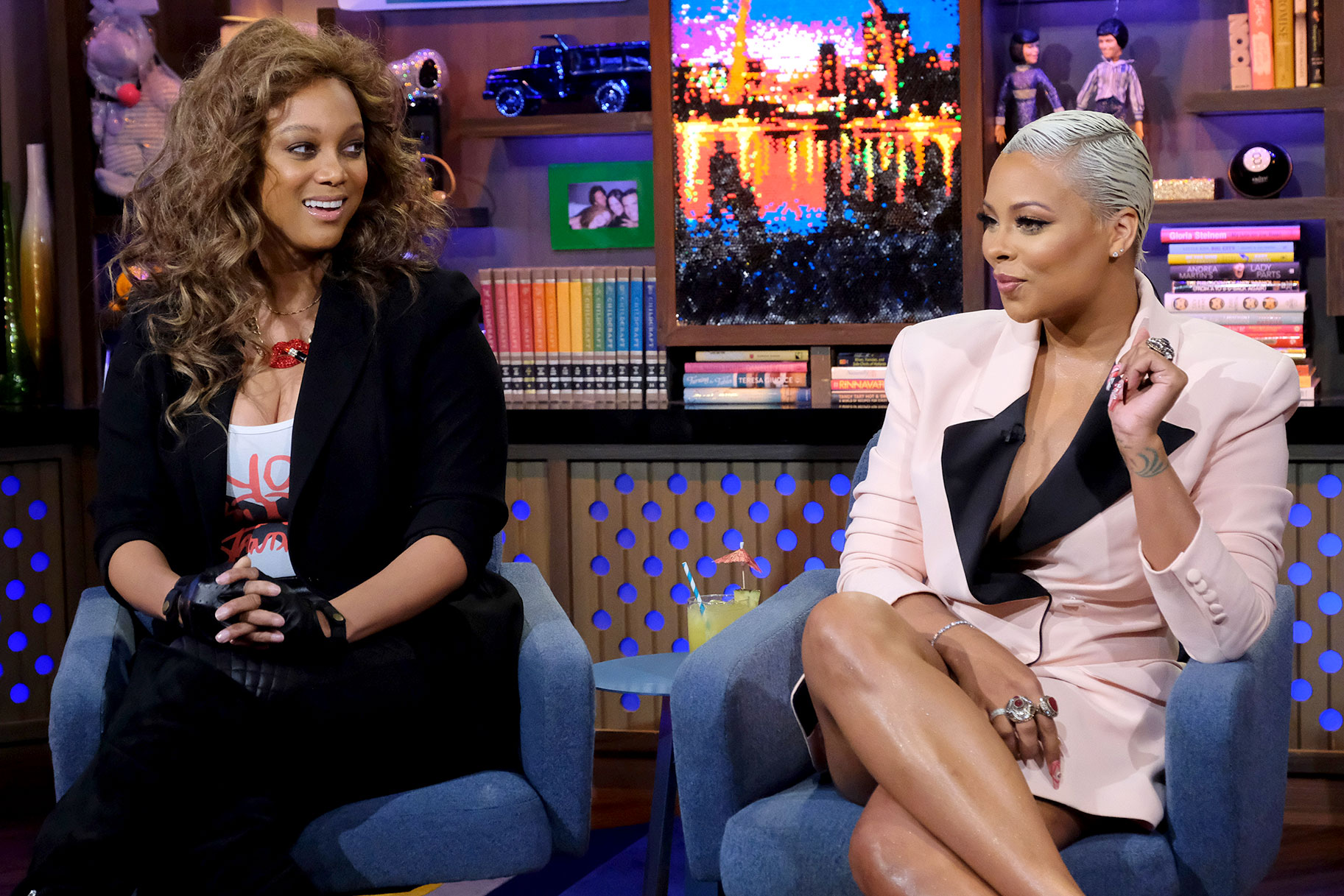 Tyra Banks Eva Marcille Wwhl