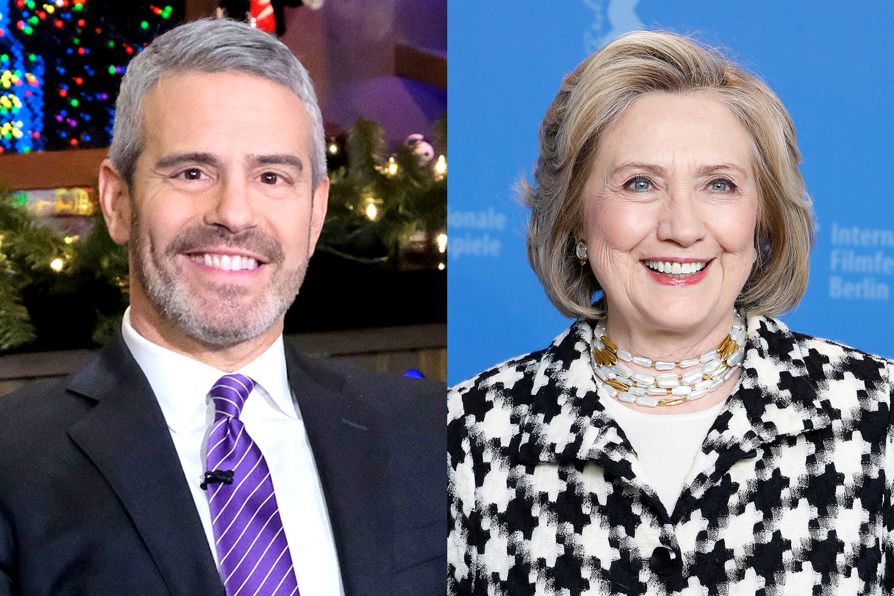 Andy Cohen Hillary Clinton Wwhl