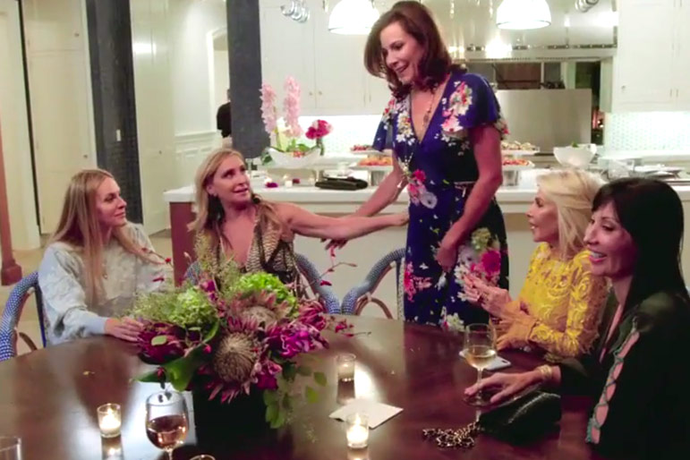 Rhony Awkward Hamptons Party