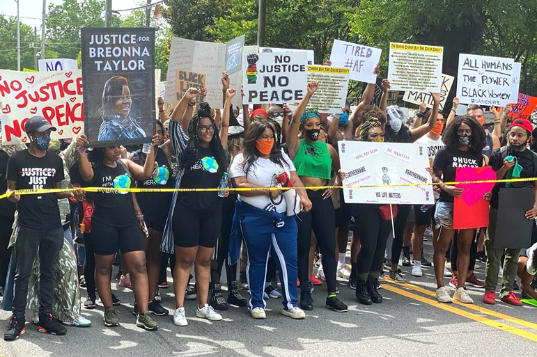 Porsha Williams Breonna Taylor Protest