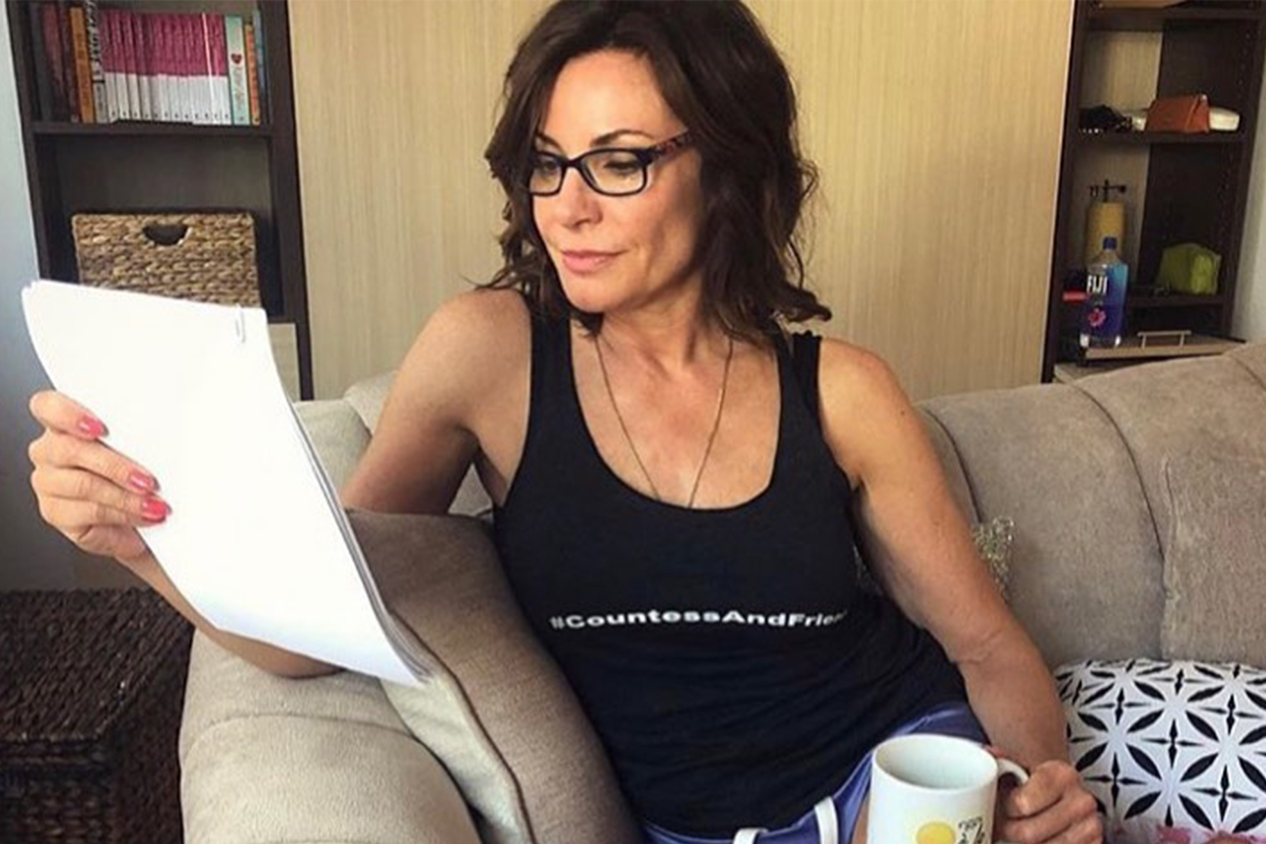Luann De Lesseps Work From Home