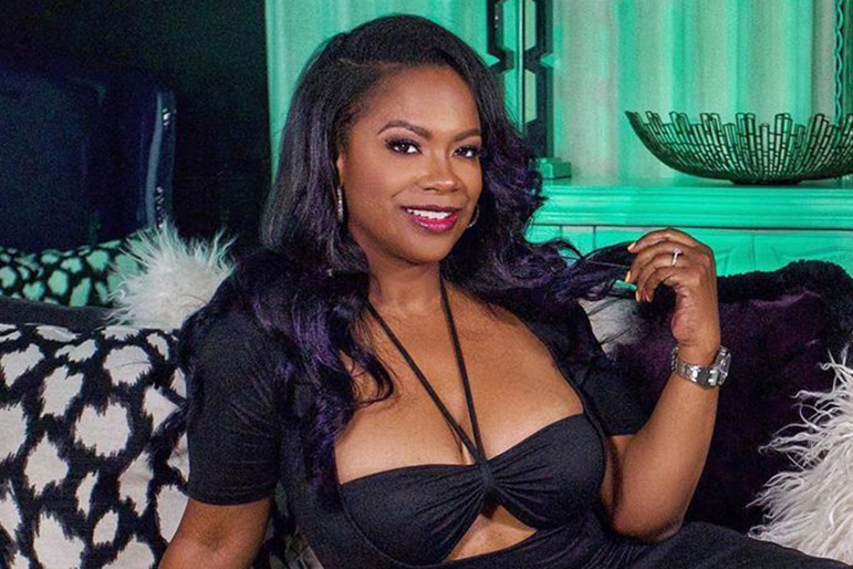 Kandi Burruss Face Mask Dress