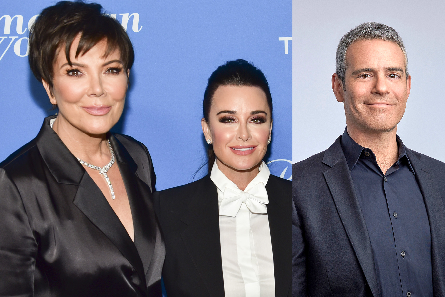 Kris Jenner Kyle Richards Andy Cohen