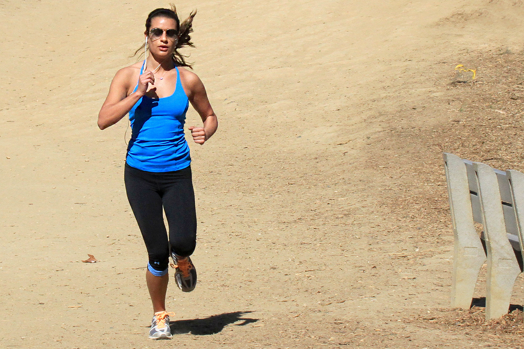 b9356898d6 Steal Lea Michele s On-Point Workout Style