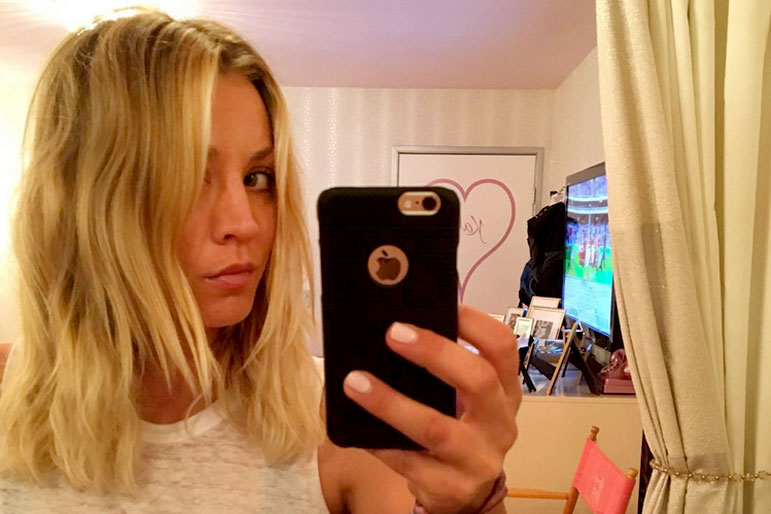 Kaley Cuoco Gets New Lob Cut Style Living