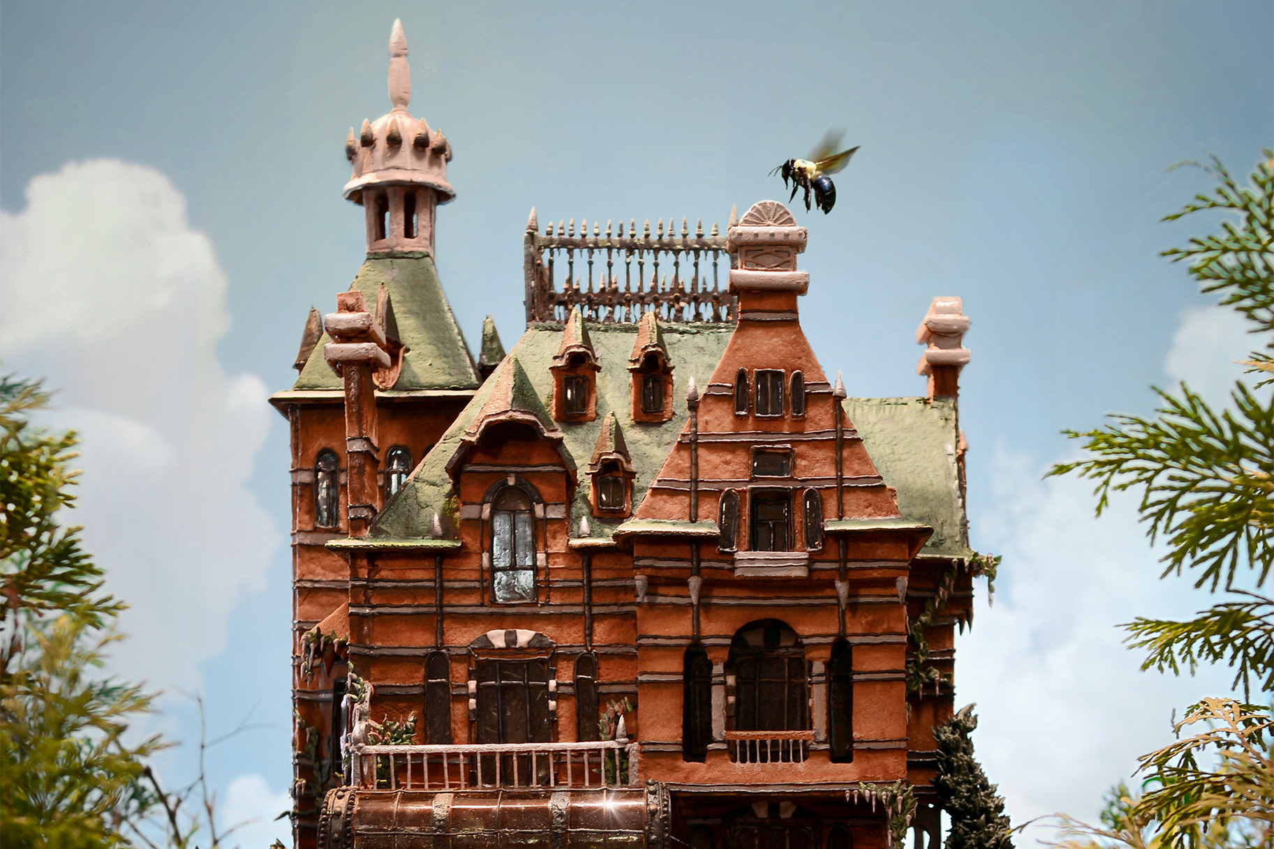 Gingerbread House is Replica of Rothschild's Waddesdon Manor