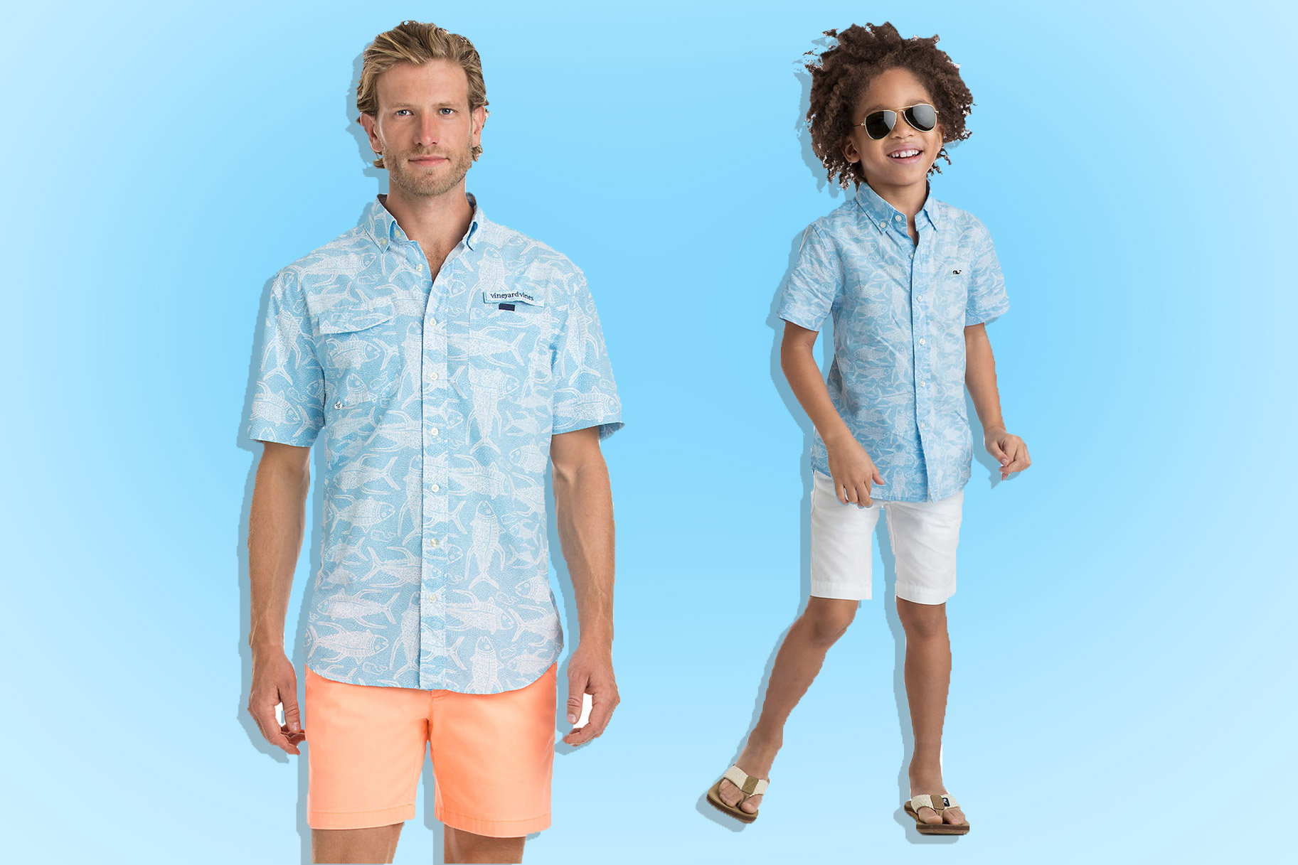 94a01e199 Here's How You Get Them to Agree on Matching Outfits This Father's Day