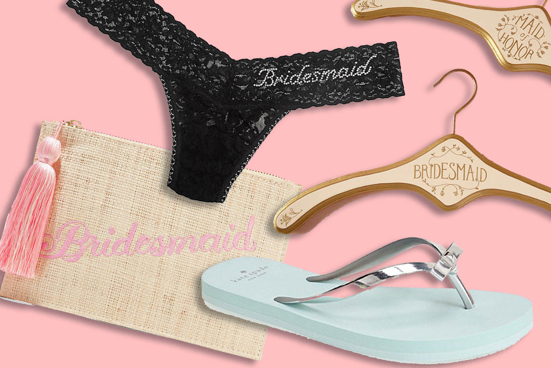 eebf9061c6b79 Crazy Cute Bridal Party Swag For All Those  Squad Photos You re Going to  Post