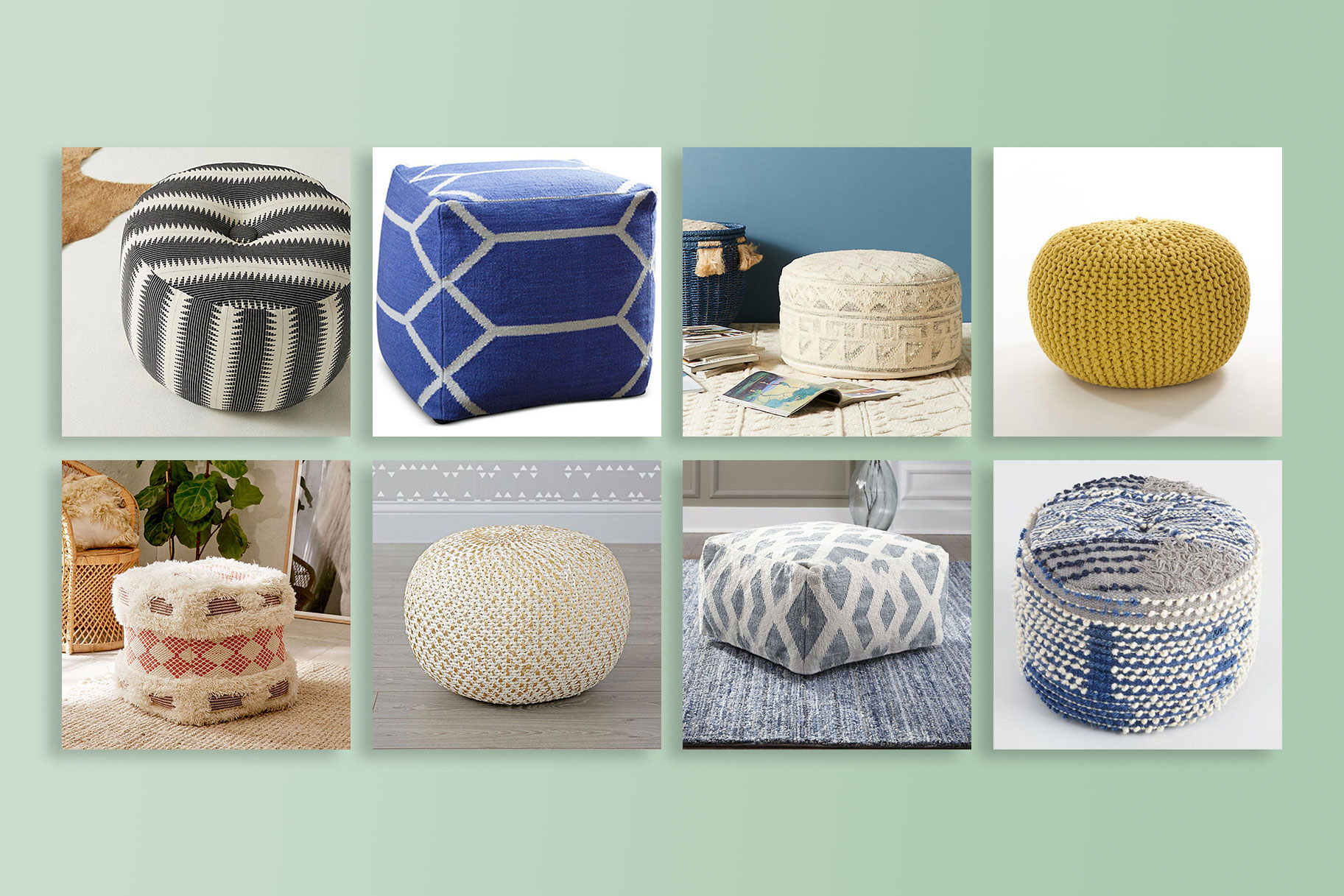 Super Get Extra Seating With These Poufs Home Design Uwap Interior Chair Design Uwaporg