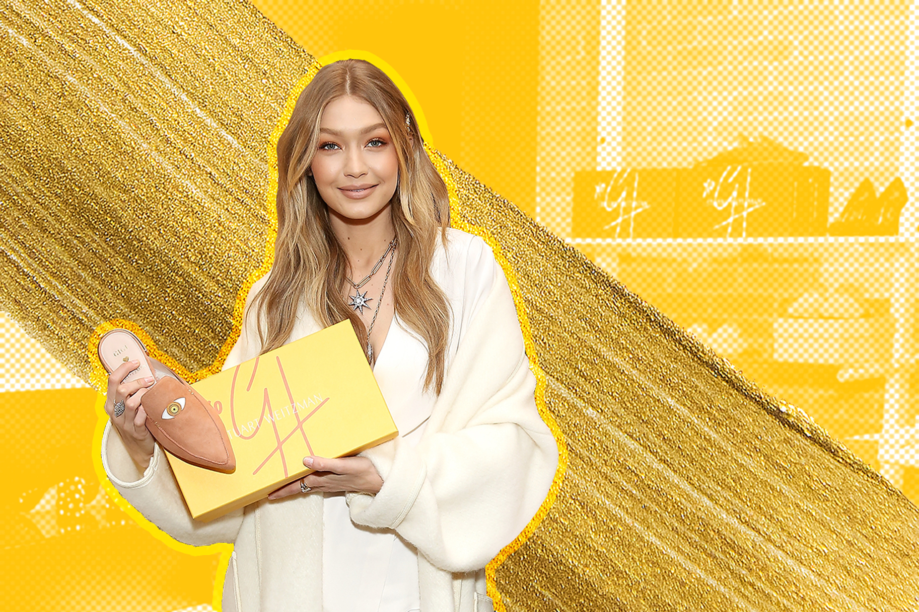 26867944b02 Gigi Hadid s New Stuart Weitzman Line Will Make You Fall in Love with Mules  All Over Again