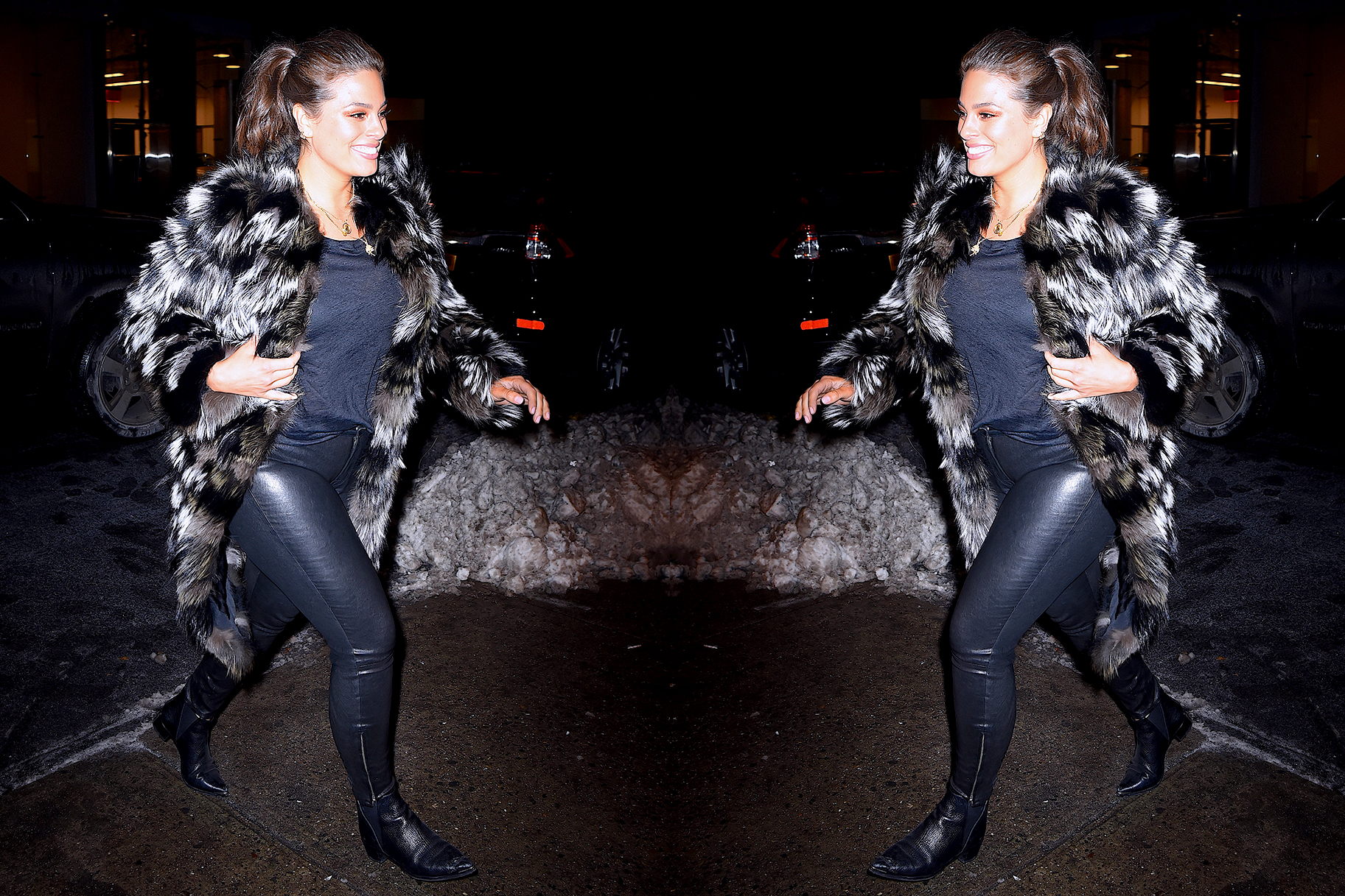 2f8b0b5815 Ashley Graham Is Proof That You Need a Pair of Leather Jeans In Your Closet  ASAP