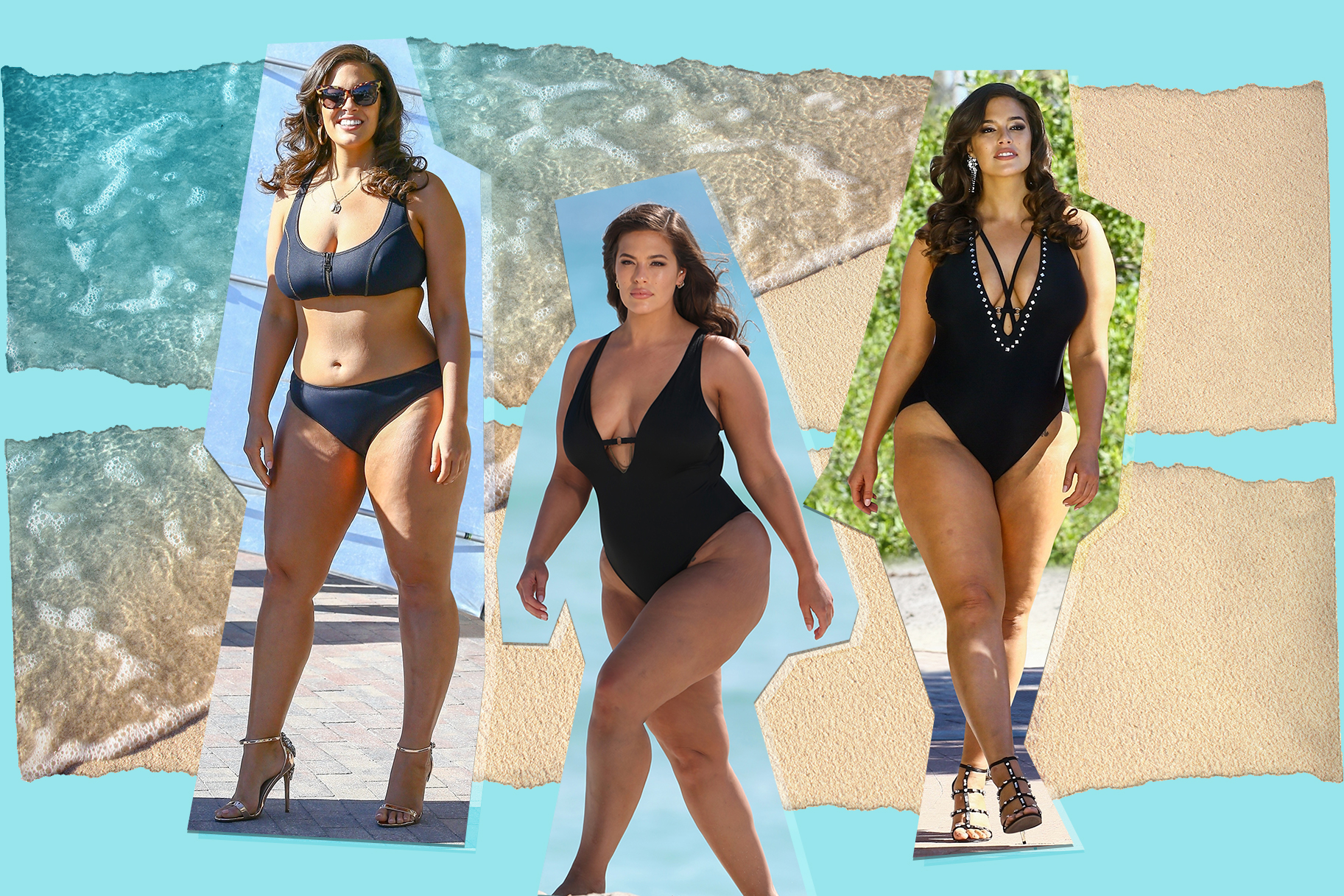 bd8a4ae9255f5 Ashley Graham Used Unretouched Bikini Photos in Her Stunning New Swimsuit  Campaign