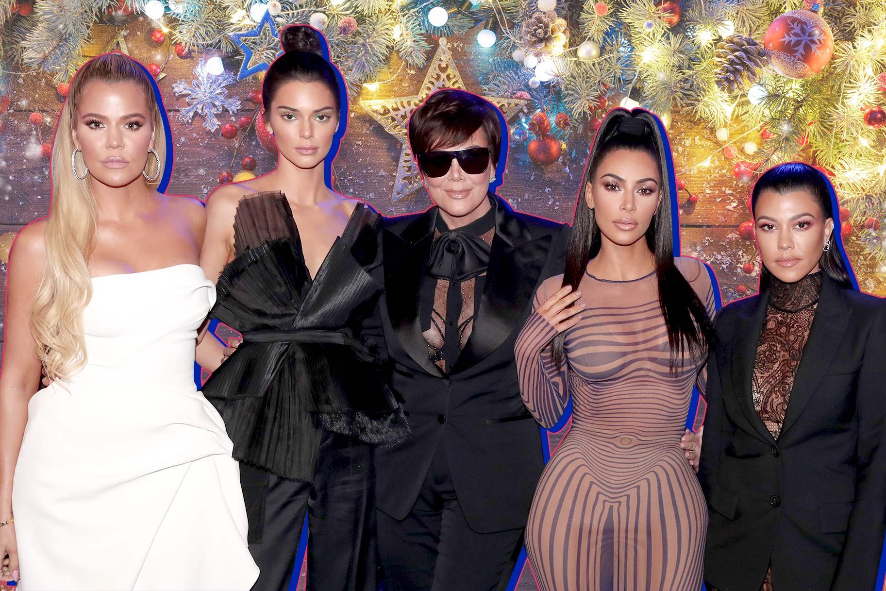 Kardashian christmas eve party photos