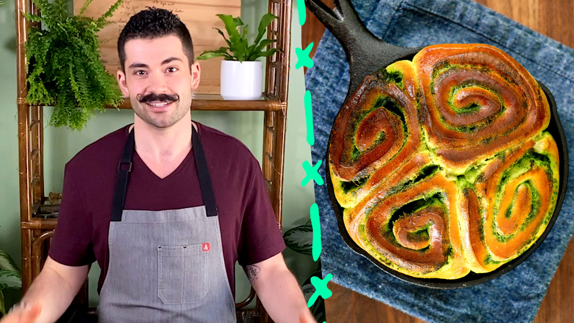 Joe Sasto Makes Mouthwatering Savory Pesto Buns with Cheese Fonduta