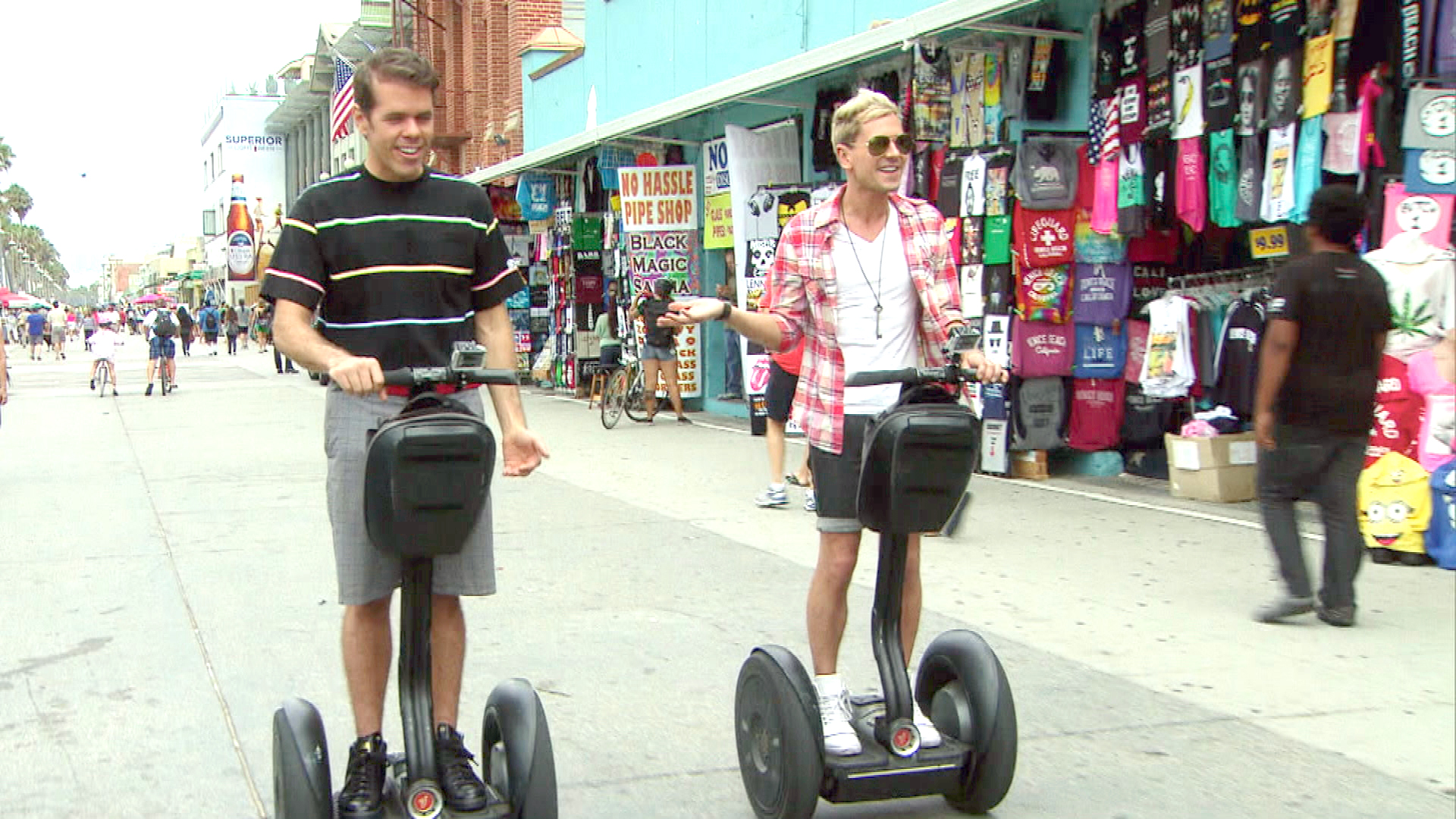 Segways and Sasha Fierce with Perez Hilton