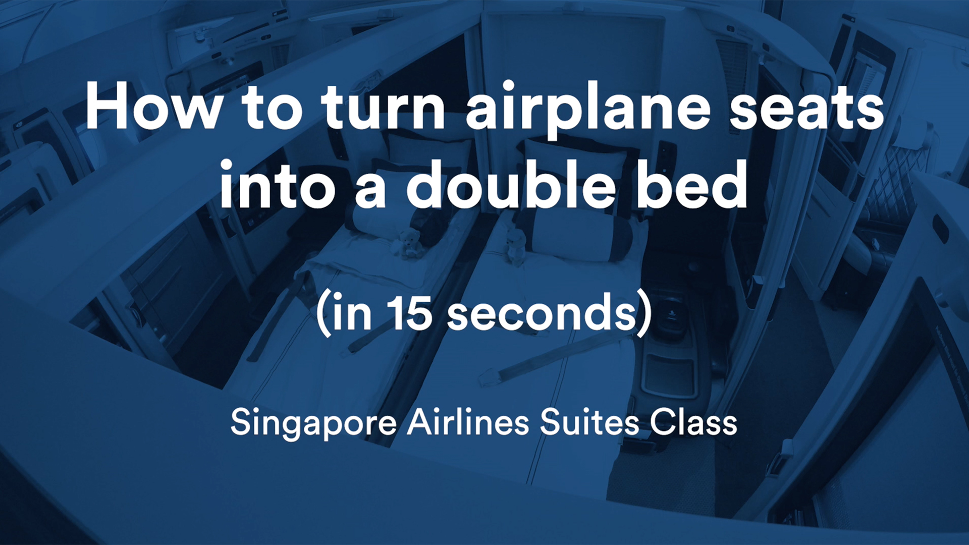 How to Turn Airplane Seats Into a Double Bed