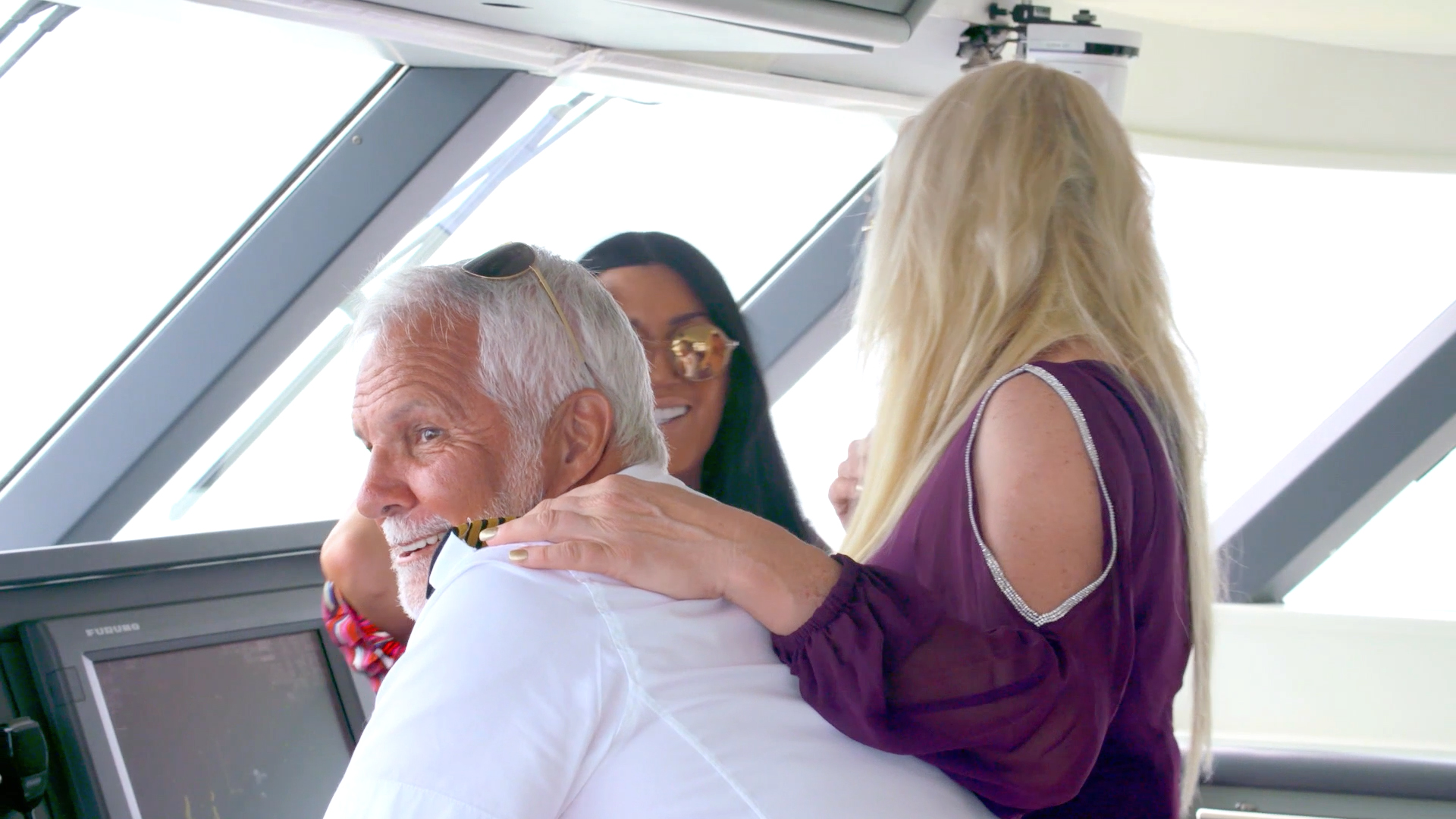Did This Charter Guest Just Grab Captain Lee Rosbach's Butt?!