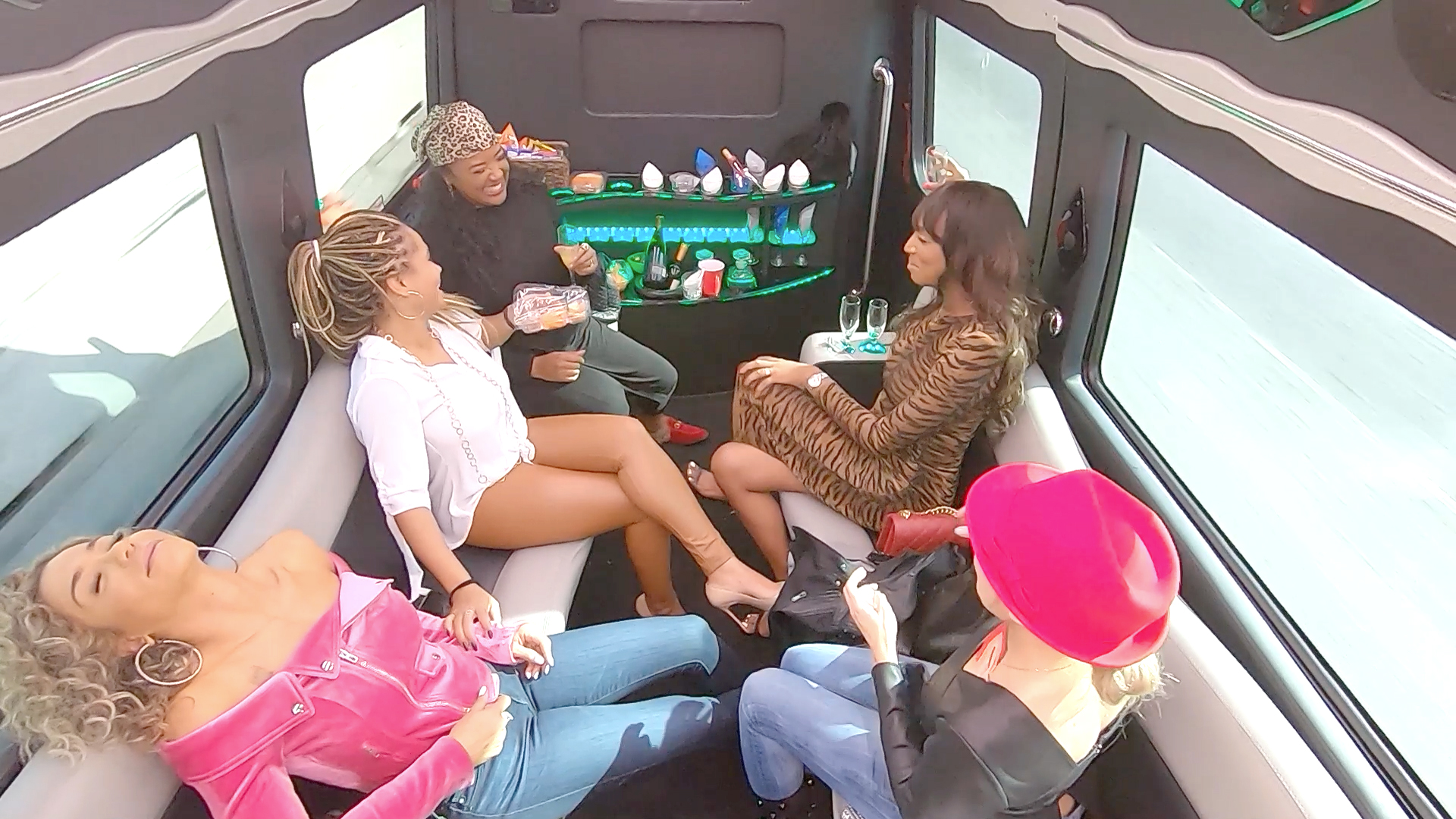 The Ladies Get Lit On a Party Bus