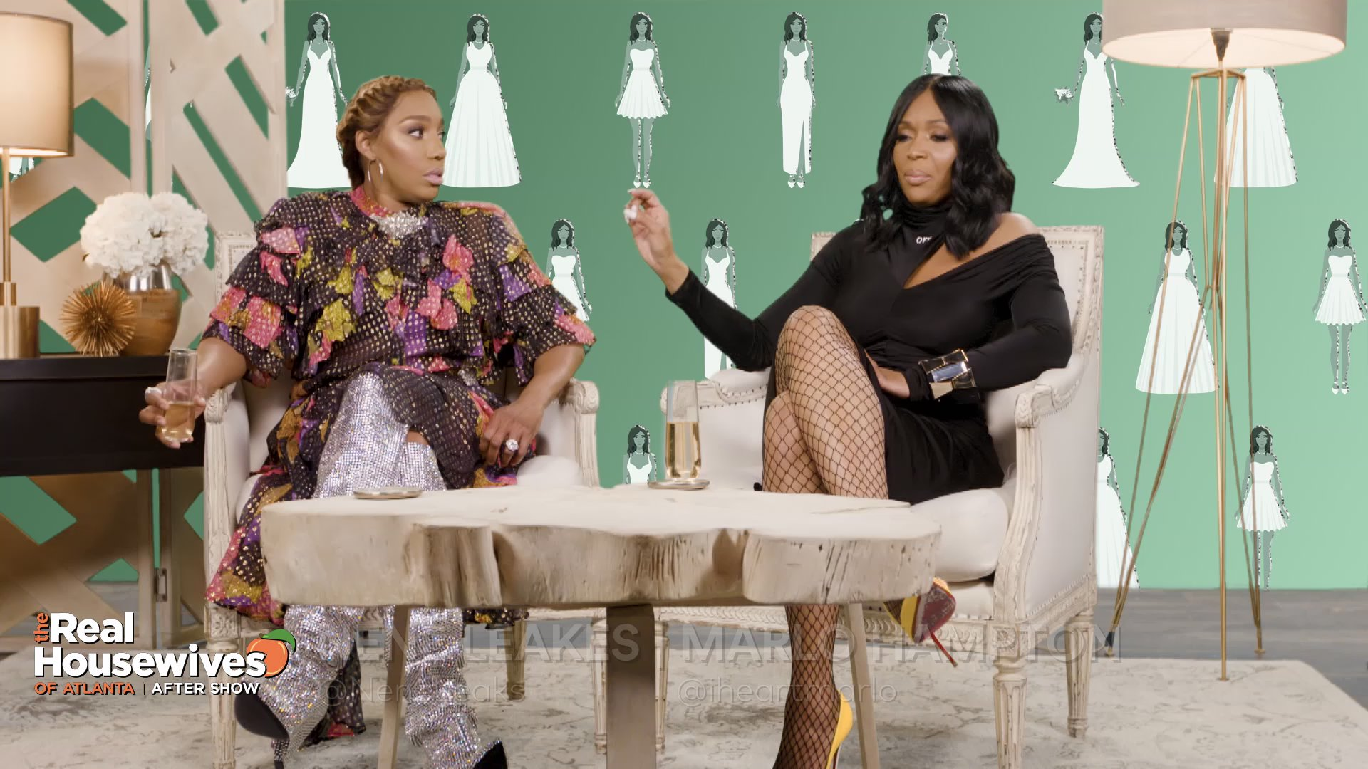"Marlo Hampton Says Eva Marcille ""Lied"" About Her Wedding Dresses"