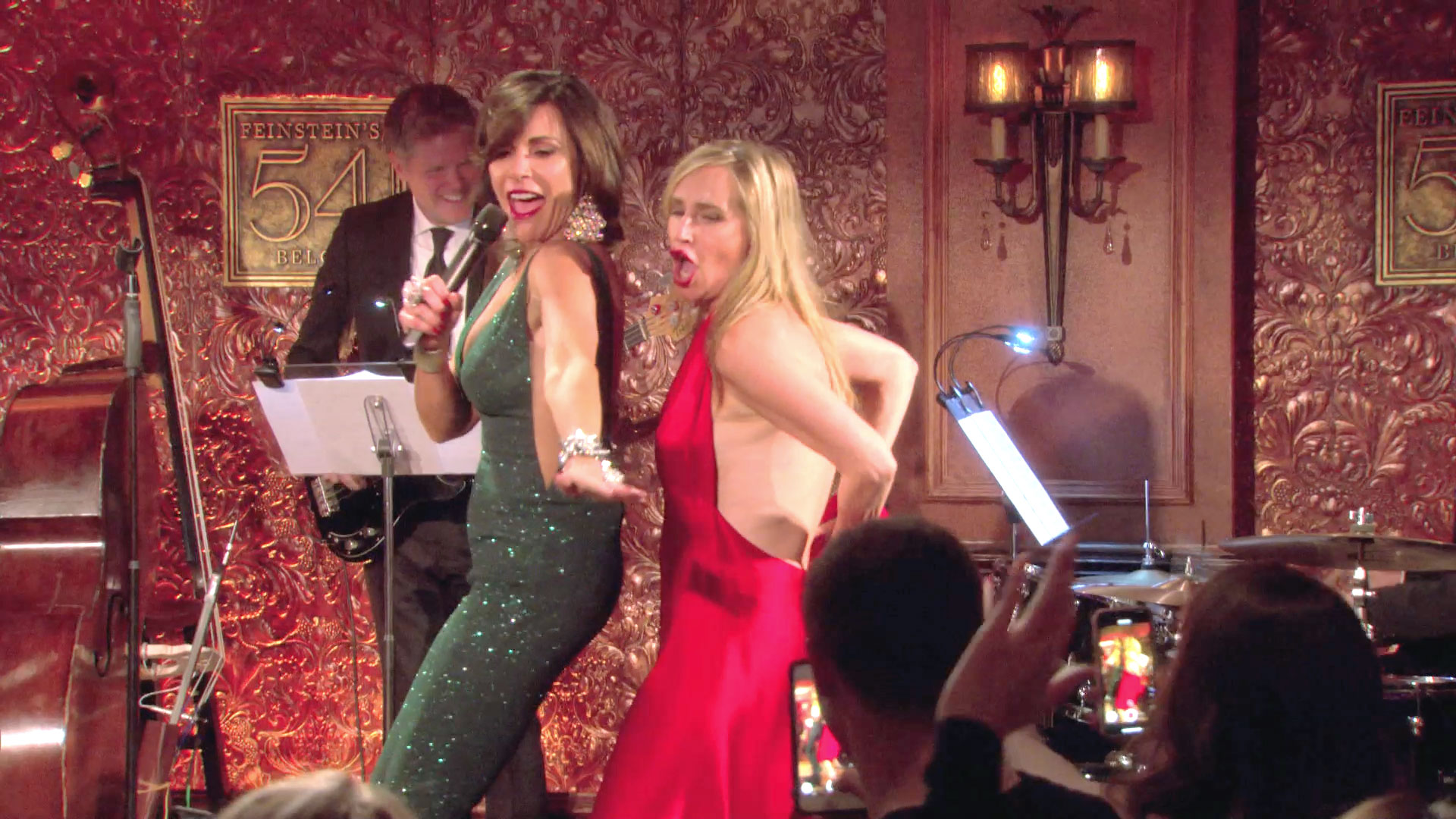 Sonja Morgan Experiences a Wardrobe Malfunction on Stage