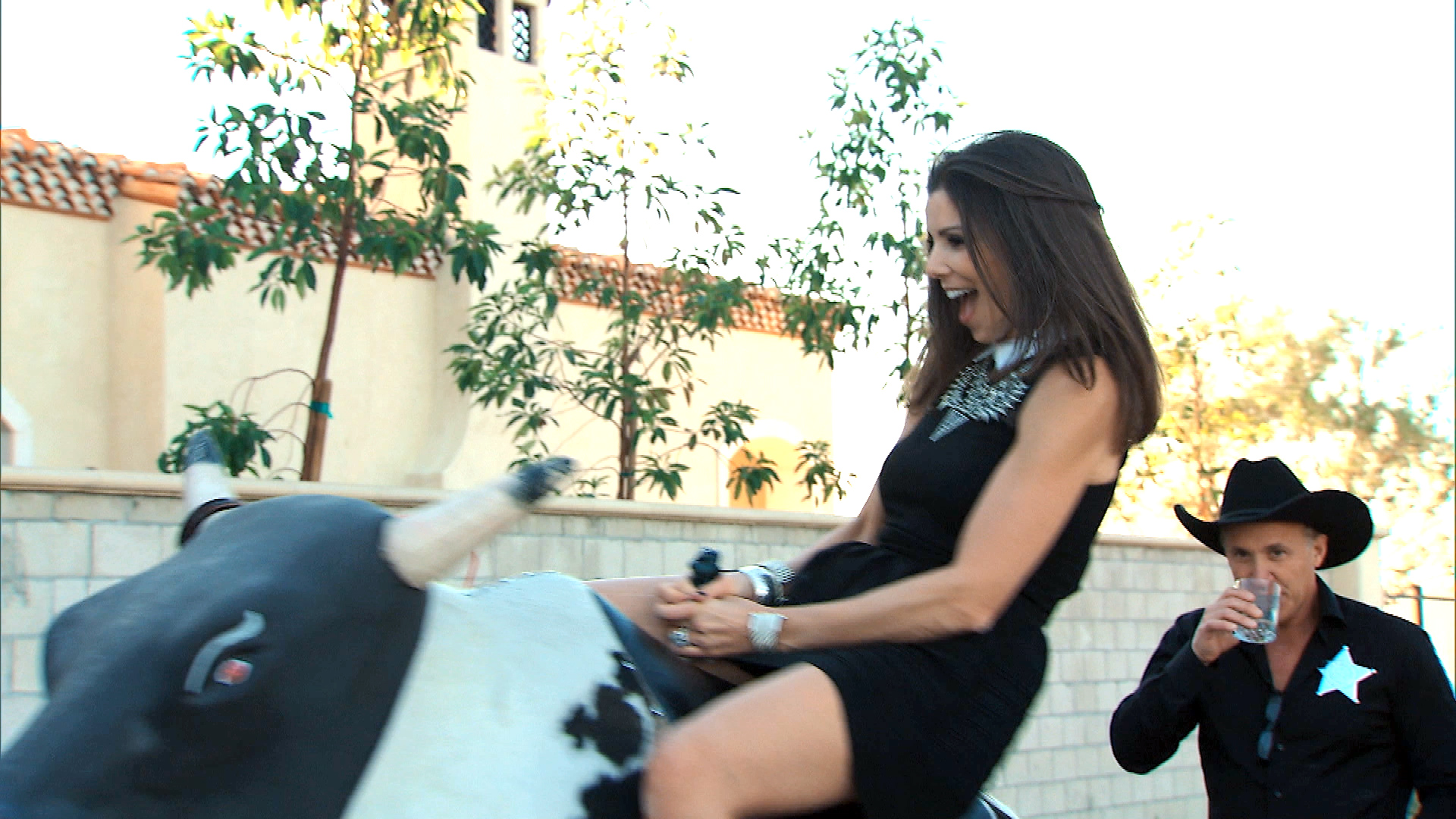 RHOC Rides the Bull, Won't Show Their Butts