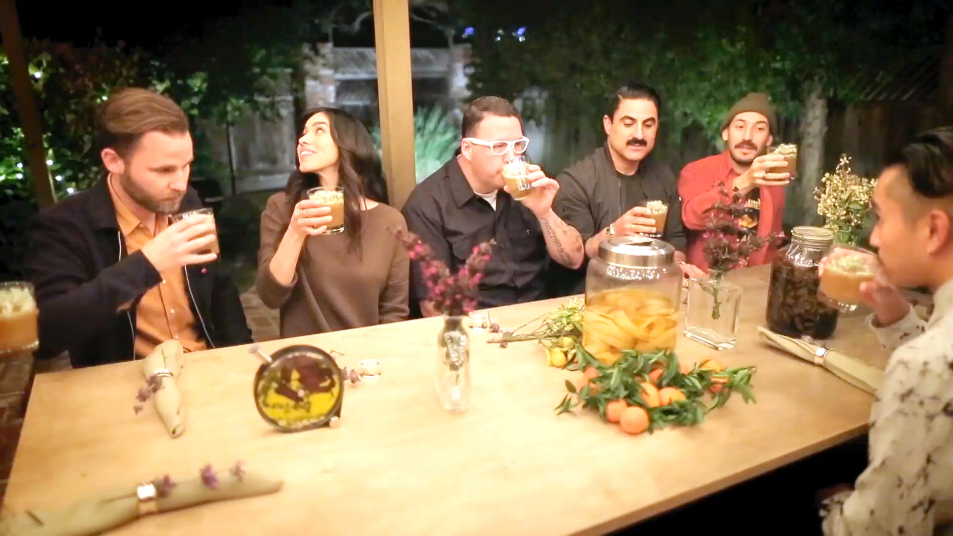 Reza Farahan and Graham Elliot Drink a Dinner Entirely Made of Liquids