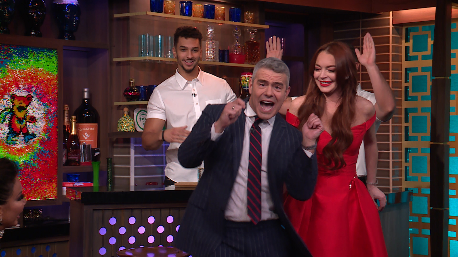 Andy Cohen Performs Lindsay Lohan's Mykonos Dance!