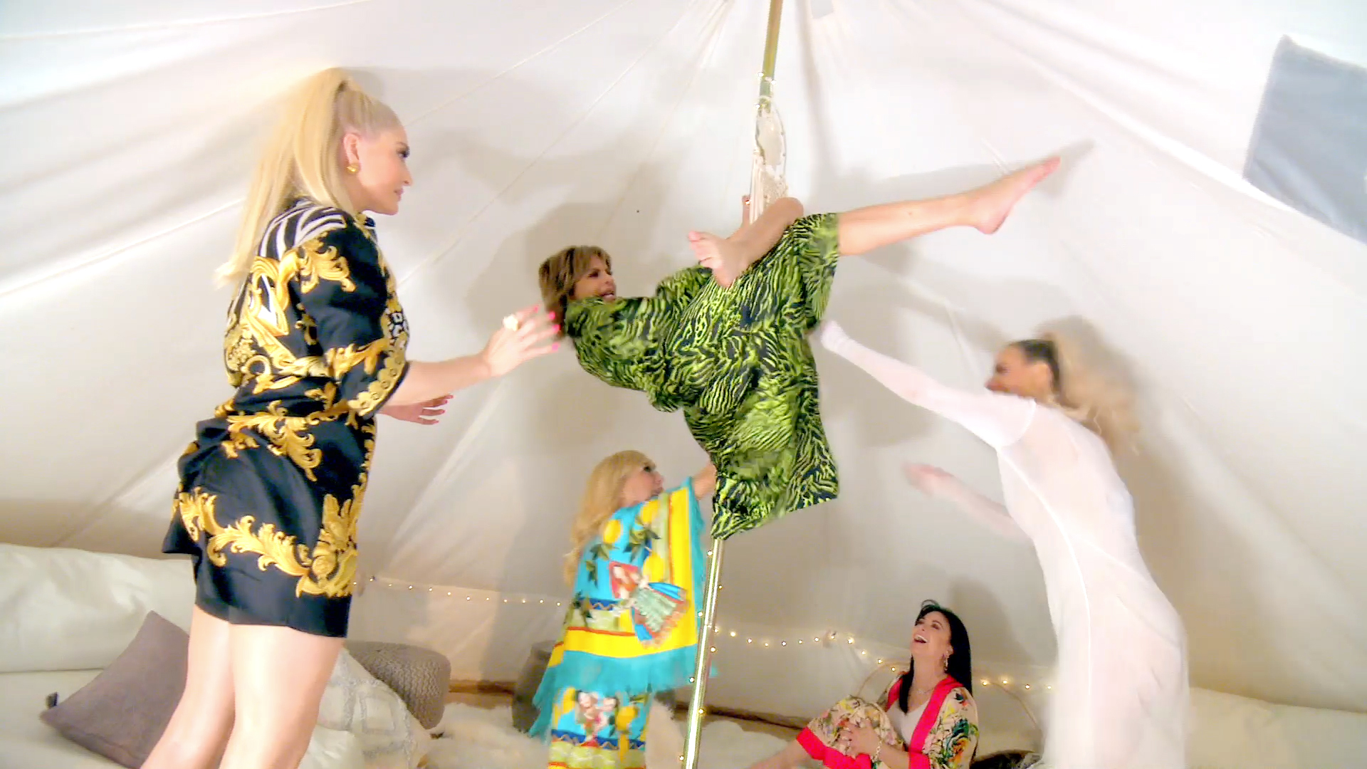 The Real Housewives of Beverly Hills Show Off Their Pole Dancing Skills