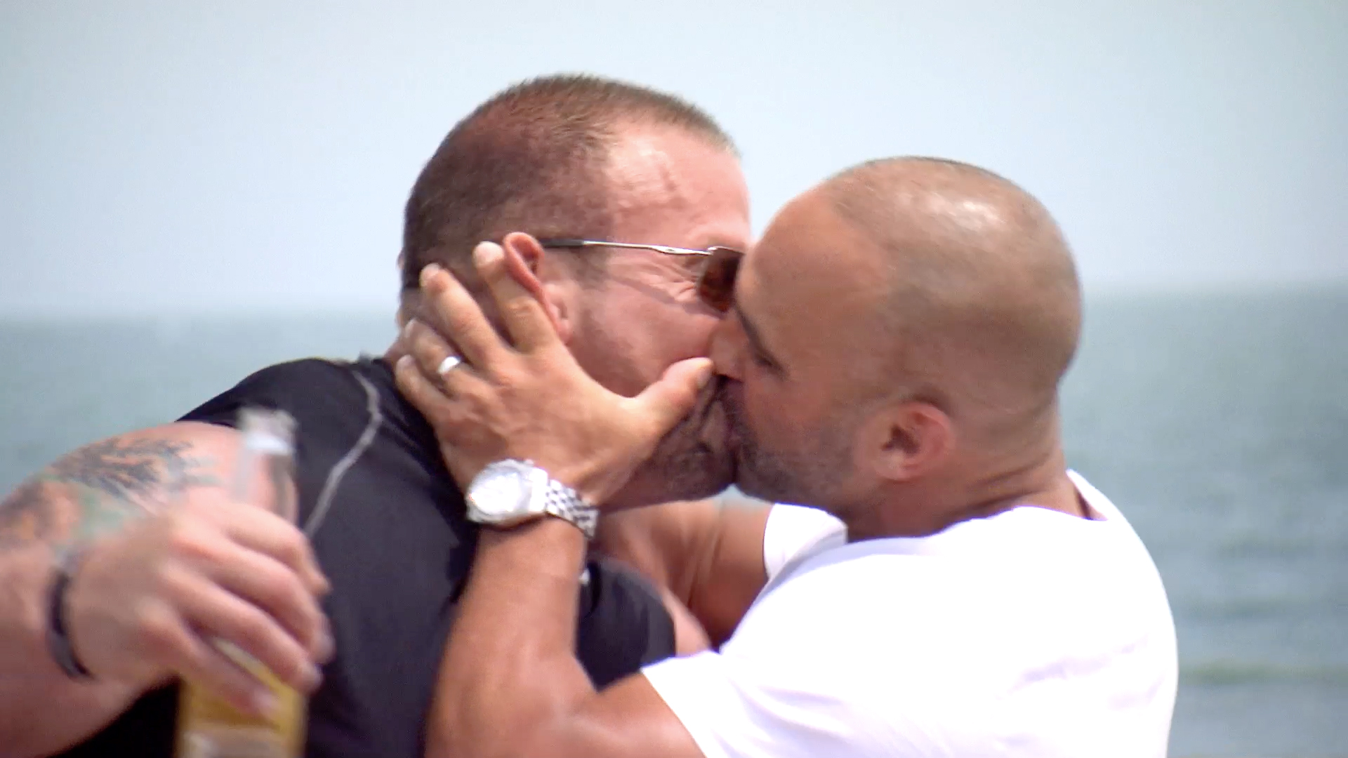 Joe Gorga Plants a Big Kiss on Frank Catania