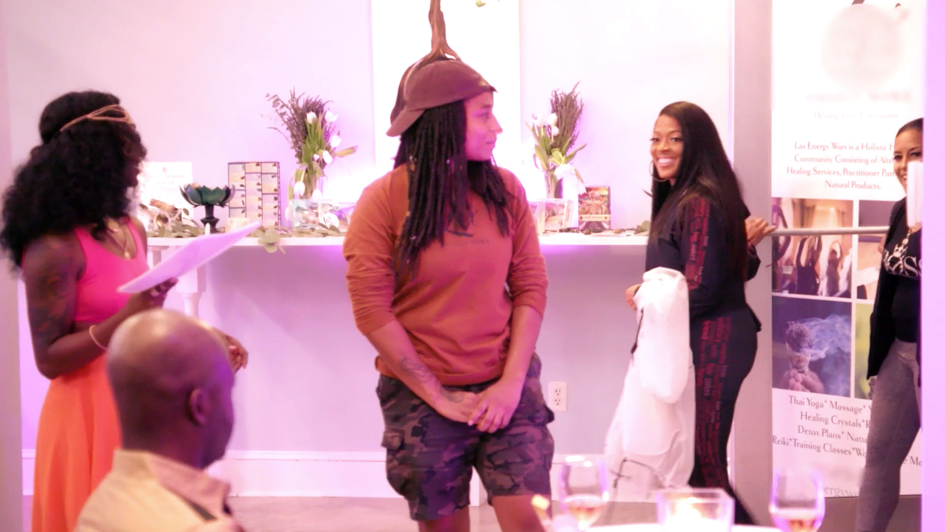 Toya Bush-Harris Arrives Late to Dr. Contessa Metcalfe's Crystal Healing Party