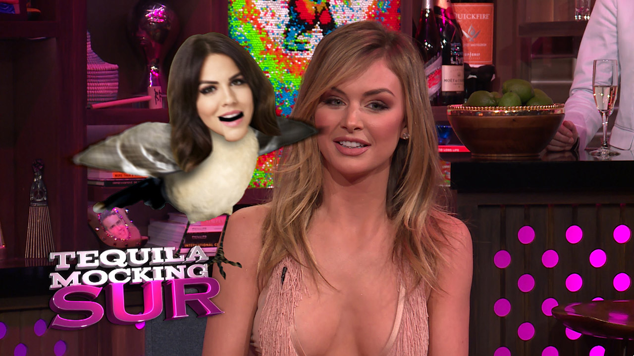 Ariana Madix & Lala Kent Play Tequila Mocking Sur