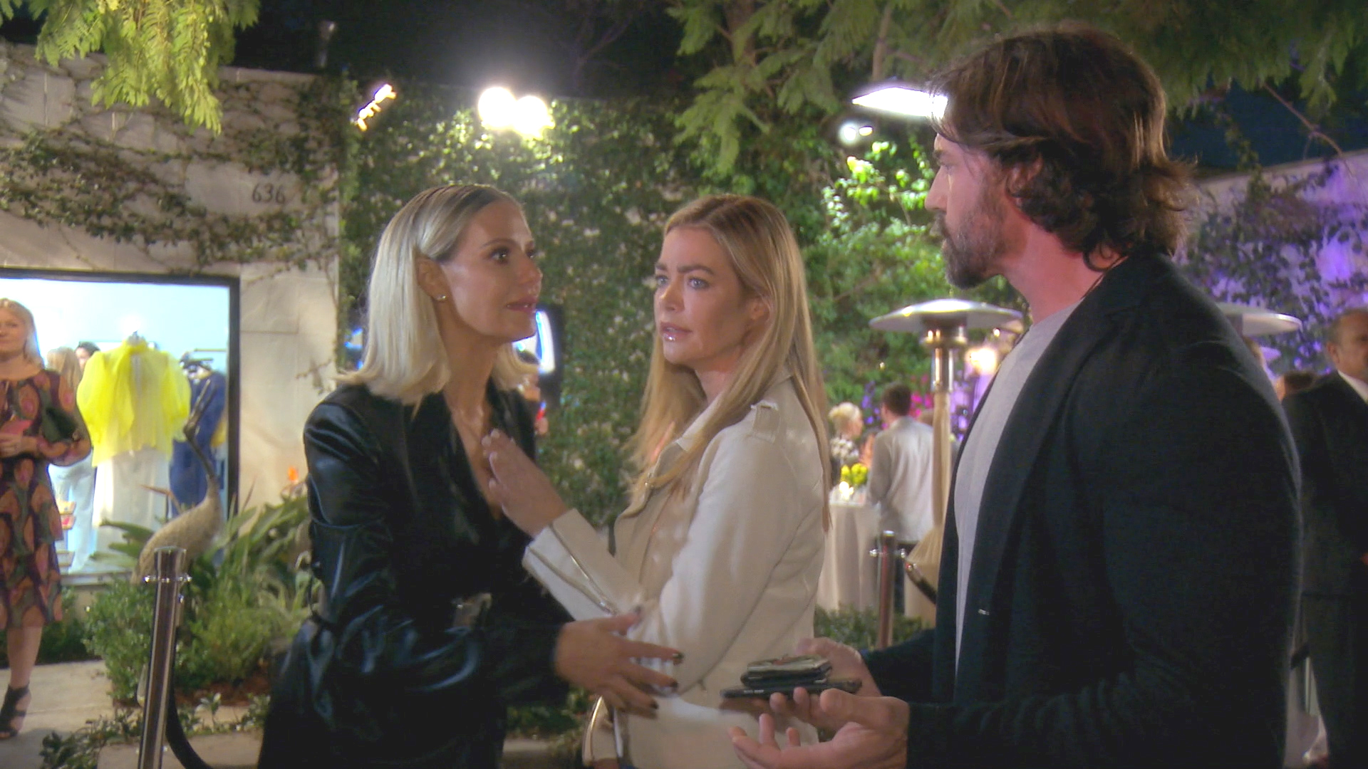 Denise Richards and Aaron Phypers Walk Out of Another Event