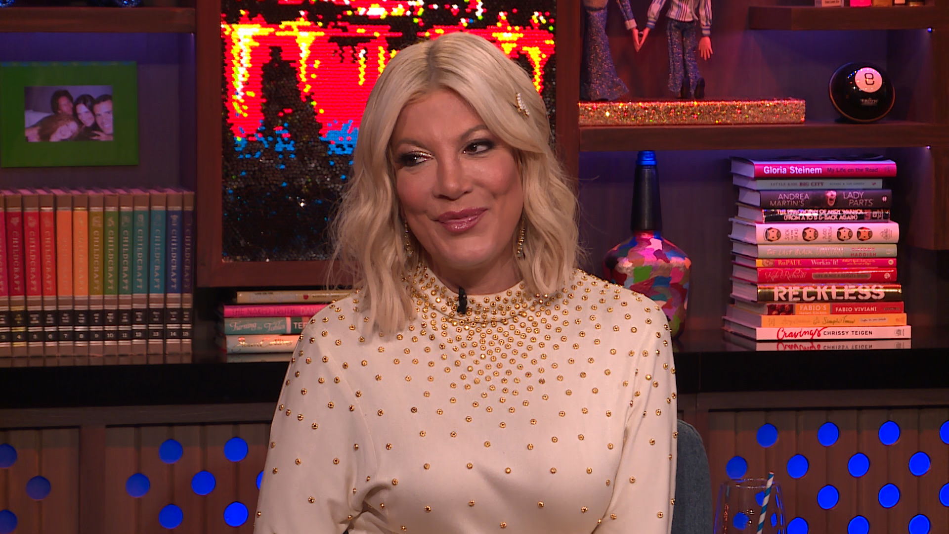 How is Tori Spelling's Relationship with Mom Candy Spelling?