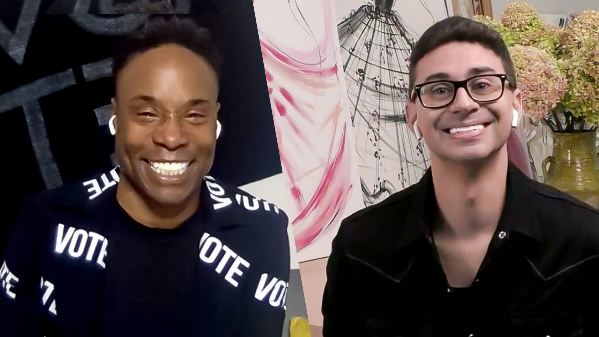 No, Billy Porter and Christian Siriano Won't 'Shut Up' About Voting