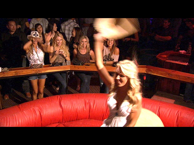 The Ladies Ride a Mechanical Bull