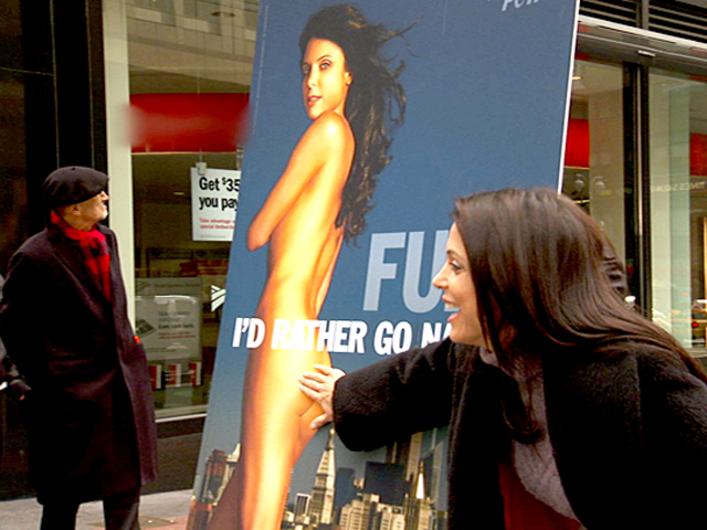 Naked in the Middle of Times Square