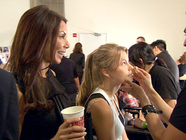 Backstage at Her First Fashion Show