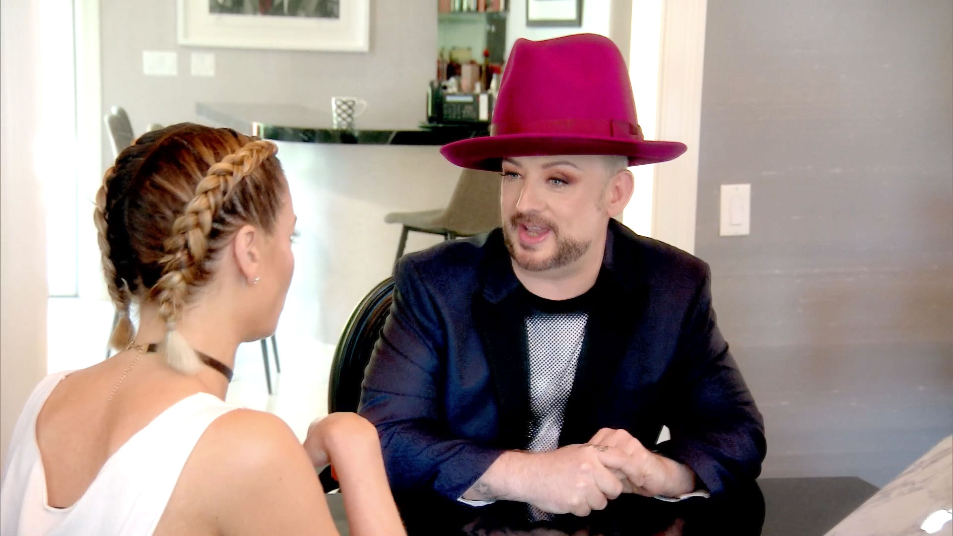 Boy George Learns About the New 'Wife
