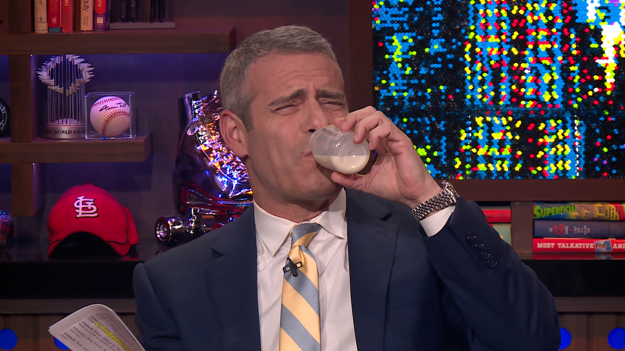 Andy Cohen Tries Amber Tamblyn's Breast Milk!