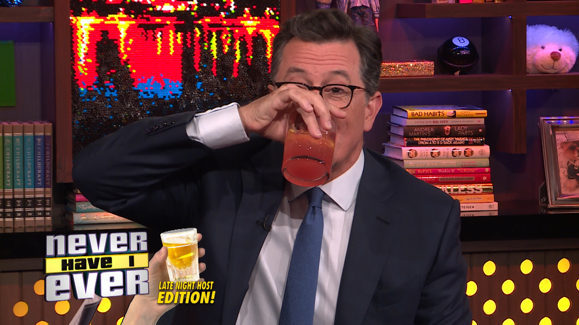 Stephen Colbert Plays Never Have I Ever, Late Night Host Edition!