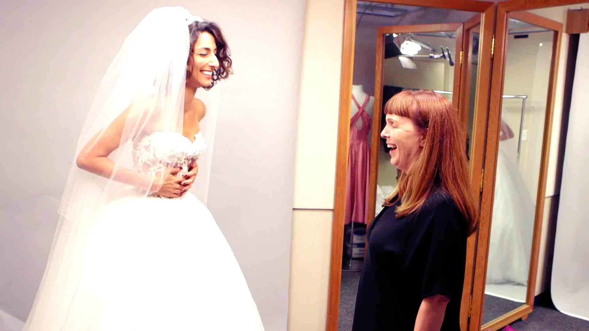 All the Details on Delia's Wedding Dress