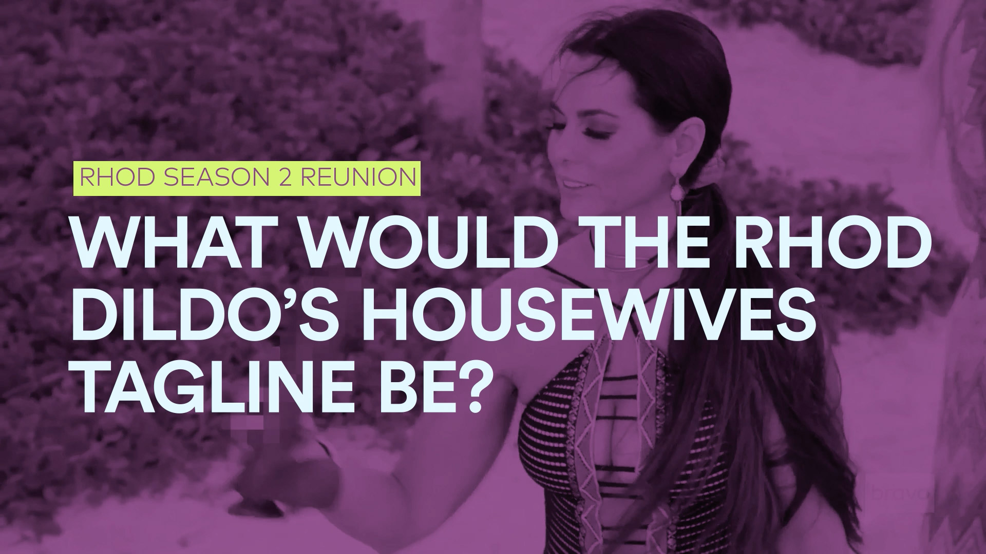 The RHOD Dildo's Housewives Tagline