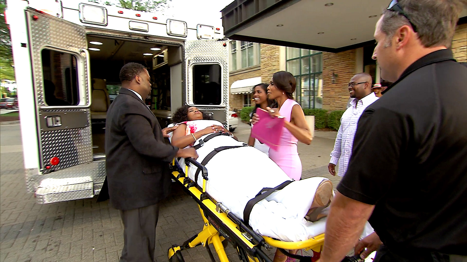 Dr. Heavenly Enters a Party in an Ambulance