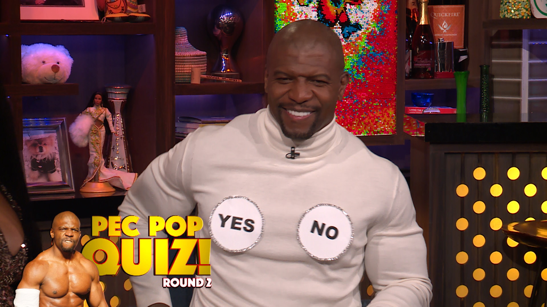 Porsha Williams Looks To Terry Crews' Pecs for the Answer